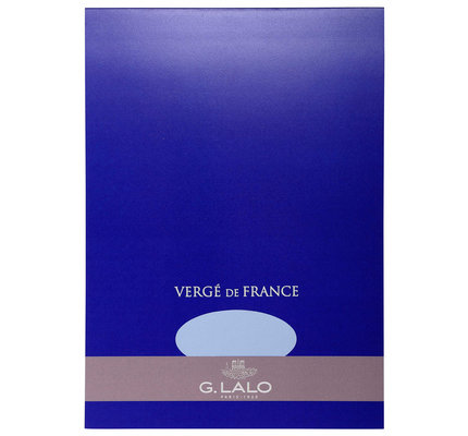G. Lalo Stationery Tablet 5.75 x 8.25 Blue