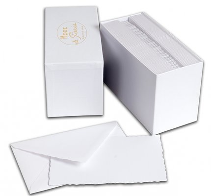 G. Lalo Mode de Paris Box Card & Envelope White