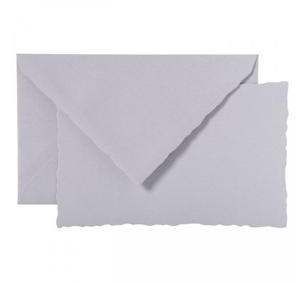 G. Lalo Deckle Edge Card & Envelope Grey