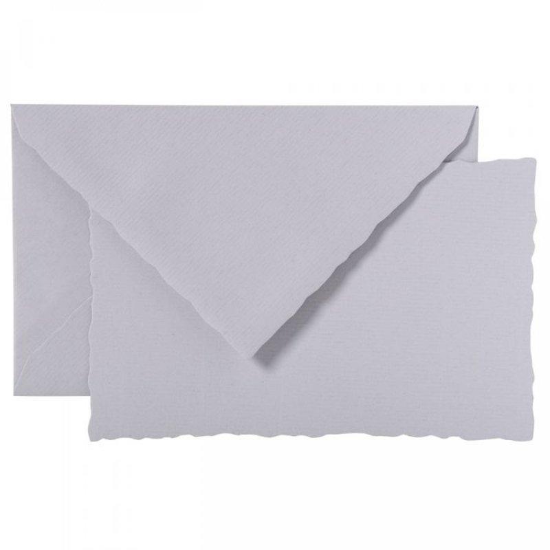 G. Lalo Deckle Edge Card & Envelope Grey