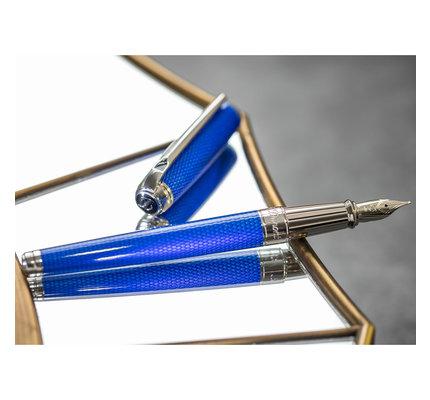 S. T. Dupont S.T. Dupont Line D Large Diamond Guilloche Sapphire Fountain Pen