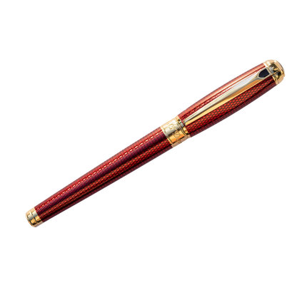 S. T. Dupont S. T. Dupont Line D Large Diamond Guilloche Ruby Rollerball