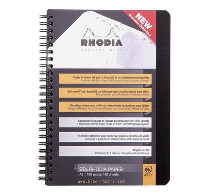 Rhodia Rhodia Rhodiactive Wirebound Address Book (A5)