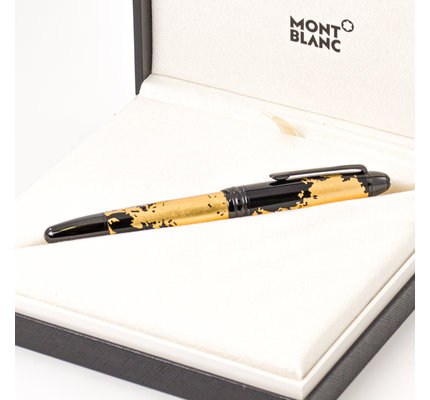 Montblanc Pre-Owned Montblanc Calligraphy Collection Gold Leaf Fountain Pen Medium