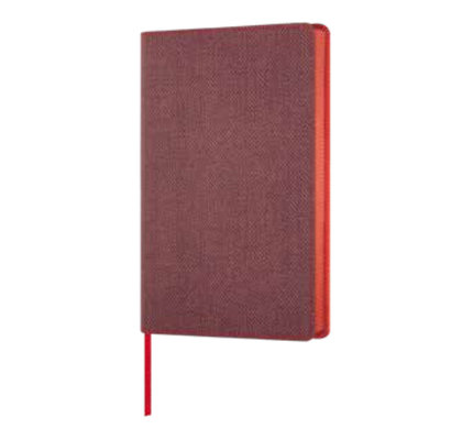 Castelli Castelli A5 Notebook Harris Maple Red Ruled