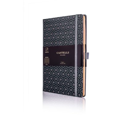 Castelli Castelli A5 Notebook Copper And Gold Honey Copper Ruled