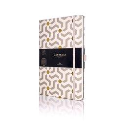Castelli Castelli A5 Notebook Oro Snakes Blank
