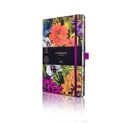 Castelli Castelli A5 Notebook Eden Orchid Ruled