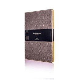 Castelli Castelli A5 Notebook Harris Tobacco Brown Blank