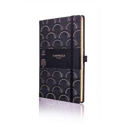 Castelli Castelli A5 Notebook Copper And Gold Art Deco Gold Blank