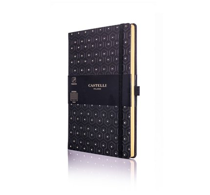 Castelli Castelli A5 Notebook Copper And Gold Honey Gold Blank