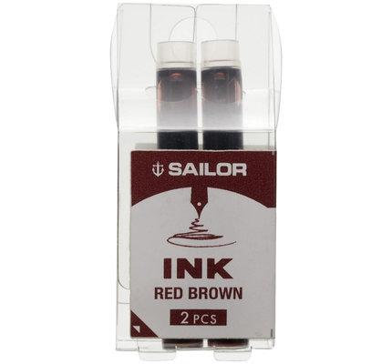 Sailor Sailor Compass Color Ink Cartridges Red Brown
