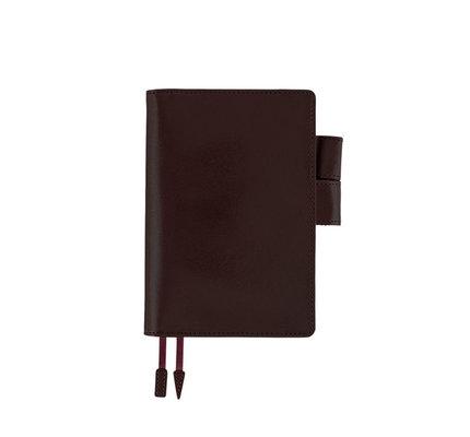 Hobonichi Hobonichi A6 Techo 2021 Leather Agenda Dark Cherry