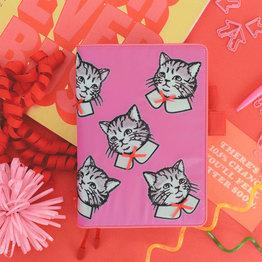 Hobonichi Hobonichi A5 Cousin 2021 Agenda Candy Stripper: Spruced-up Cat (Candy Pink)