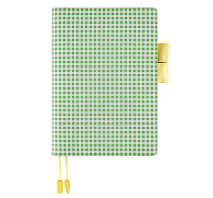 Hobonichi Hobonichi A5 Cousin 2021 Agenda Apple Green Gingham
