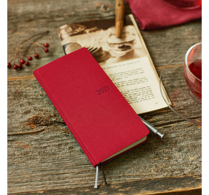 Hobonichi Hobonichi Weeks 2021 Agenda Colors: Deep Red