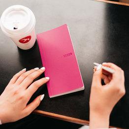 Hobonichi Hobonichi Weeks Mega 2021 Agenda Sneaker: Bright Pink