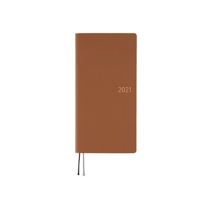 Hobonichi Hobonichi Weeks 2021 Agenda Nuance: Milk Chocolate (Spring Start)