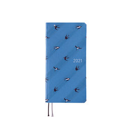 Hobonichi Hobonichi Weeks 2021 Agenda Bow & Tie: Swallows