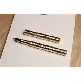 Schon DSGN Schon DSGN Pocket Six Faceted Brass Fountain Pen
