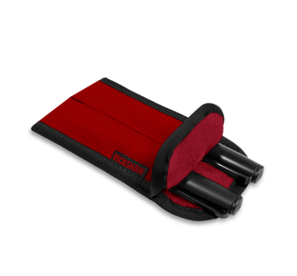 Rickshaw 2-Pen Coozy - Red (Long)