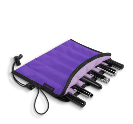 Rickshaw 6-Pen Violet Pen Roll