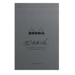 Rhodia Rhodia PAScribe #19 Top Staplebound Calligraphy Pad with Grey Paper