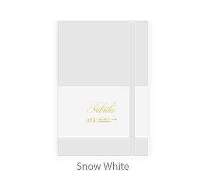 Colorverse Colorverse Nebula 2021 A5  Snow White Weekly Planner with Ink Journal