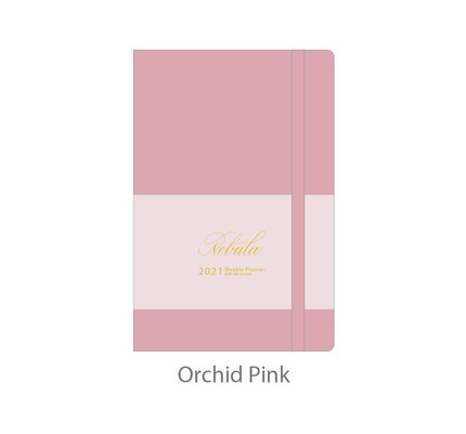 Colorverse Colorverse Nebula 2021 A7 Orchid Pink Weekly Planner with Ink Journal