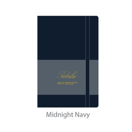 Colorverse Colorverse Nebula 2021 A5 Midnight Navy Weekly Planner with Ink Journal