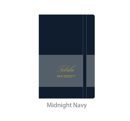 Colorverse Colorverse Nebula 2021 A8 Midnight Navy Weekly Planner with Ink Journal