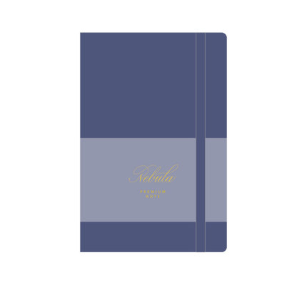 Colorverse Colorverse Nebula A5 Lavender Blue Premium Notebook Plain