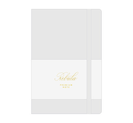 Colorverse Colorverse Nebula A5  Snow White Premium Notebook Ruled