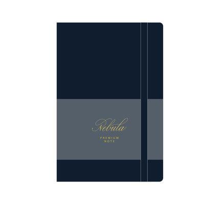 Colorverse Colorverse Nebula A5 Midnight Navy Premium Notebook Ruled