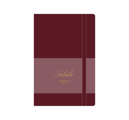 Colorverse Colorverse Nebula A5 Ruby Wine Premium Notebook Ruled