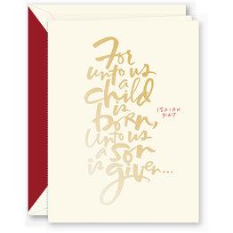 Crane Crane Foil Isaiah 9:6-7  Holiday Greeting Cards