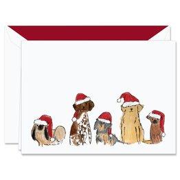 Crane Crane Digital Santa Dogs Holiday Greeting Cards