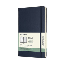Moleskine Moleskine 2020-21 Weekly Planner 18-Month Large Sapphire Blue Hard Cover (5x8.25)