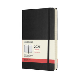 Moleskine Moleskine 2021 Daily Planner 12-Month Large Black Hard Cover (5x8.25)