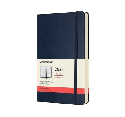 Moleskine Moleskine 2021 Daily Planner 12-Month Large Sapphire Blue Hard Cover (5x8.25)