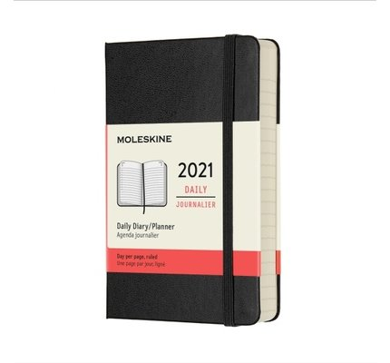 Moleskine Moleskine 2021 Daily Planner 12-Month Pocket Black Hard Cover (3.5x5.5)