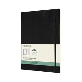 Moleskine Moleskine 2021 Weekly Planner 12-Month Extra Large Black Soft Cover (7.5x9.75)