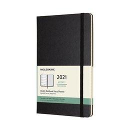Moleskine Moleskine 2021 Weekly Planner 12-Month Large Black Hard Cover (5x8.25)