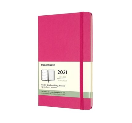 Moleskine Moleskine 2021 Weekly Planner 12-Month Large Bougainvillea Pink Hard Cover (5x8.25)