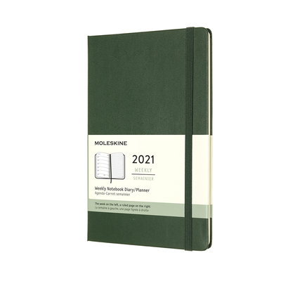 Moleskine Moleskine 2021 Weekly Planner 12-Month Large Myrtle Green Hard Cover (5x8.25)