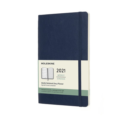 Moleskine Moleskine 2021 Weekly Planner 12-Month Large Sapphire Blue Soft Cover (5x8.25)