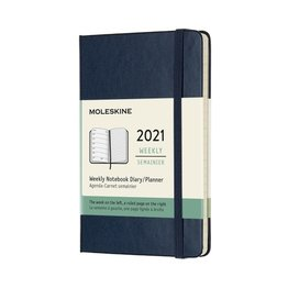 Moleskine Moleskine 2021 Weekly Planner 12-Month Pocket Sapphire Blue Hard Cover (3.5x5.5)