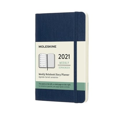 Moleskine Moleskine 2021 Weekly Planner 12-Month Pocket Sapphire Blue Soft Cover (3.5x5.5)