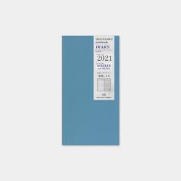 Traveler's Traveler's Notebook Regular Refill 2021 Weekly + Memo