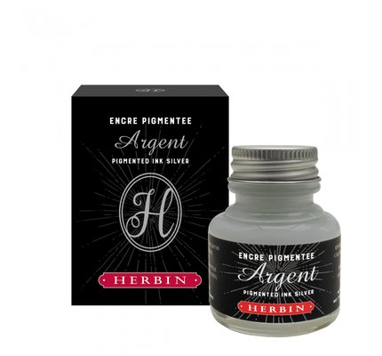 J. Herbin J. Herbin Silver Pigmented Calligraphy Ink 30ml Bottled Ink